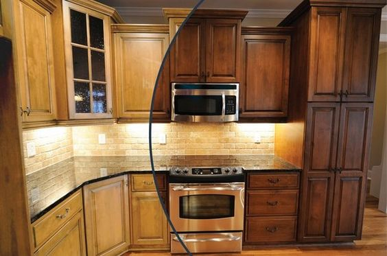 Stains popular and colors on pinterest for Ak kitchen cabinets calgary