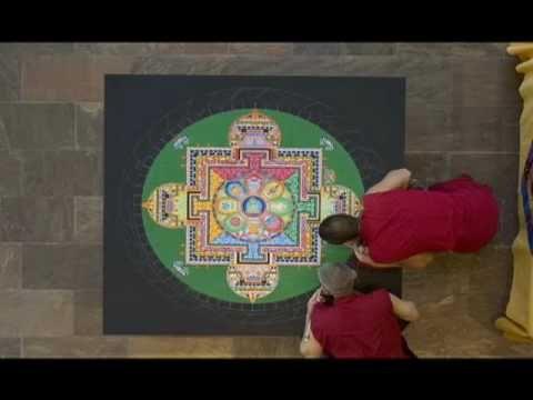 Tibetan Monks and sand mandala