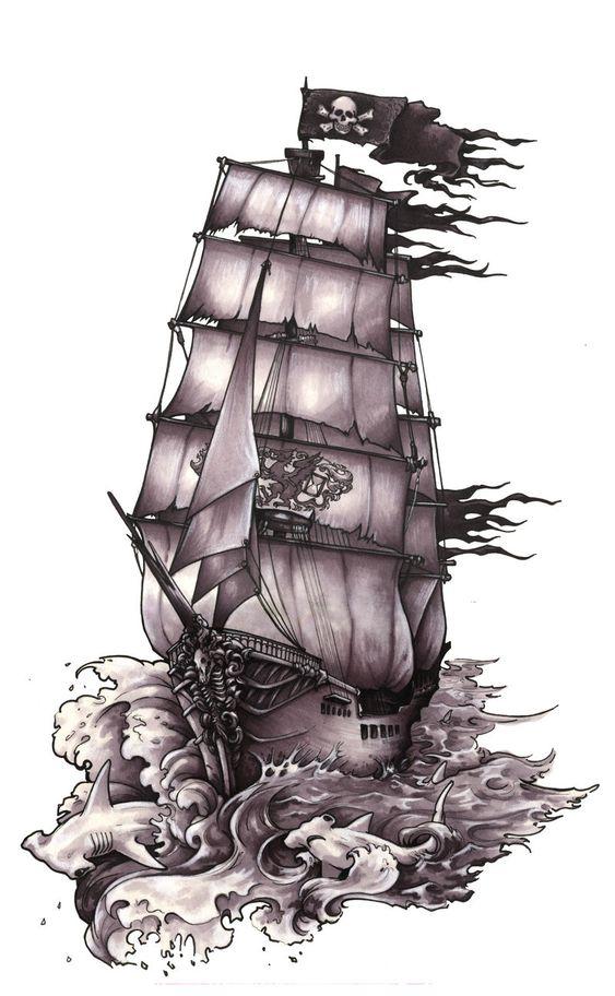 #tatoo #ship  belleza barco pirata