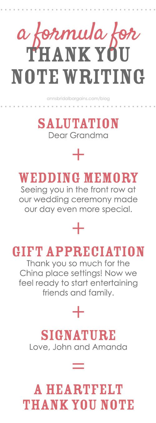 Wedding Thank You Notes Made Simple | Note, Wedding and Weddings