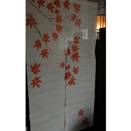 Red Curtains amazon red curtains : Amazon.com: Japanese Noren, linen door way curtain, red maple ...