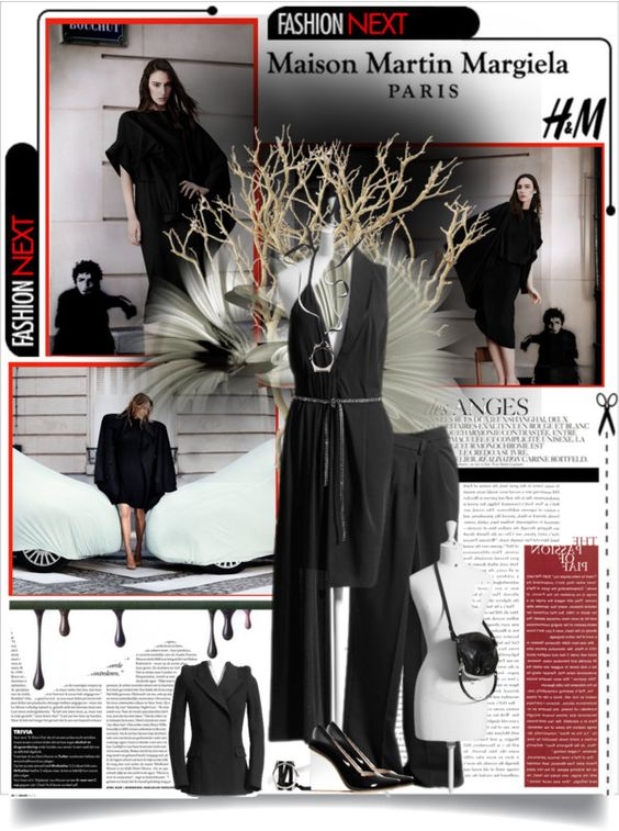 """""""Maison Martin Margiela with H"""" by d-e-s-i ❤ liked on Polyvore"""