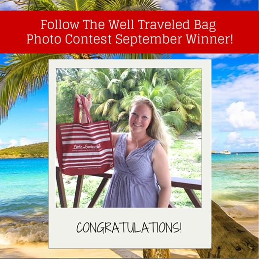 Congratulations to our September winner of our Follow the Well Traveled Bag Photo Contest!  #LittleSwitzerland