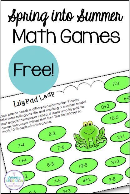 These FREE addition and subtraction games for first grade are a fun way to review basic addition and subtraction in math centers and math rotations. Each game has just one page to print - no cards to prepare! Plus, each of the games comes in both color and black line. The black line versions make great family homework - a letter is included to save you time! Great for homeschool teachers, tutors, and math intervention teachers, too! #firstgrademath #freefirstgrademathgames