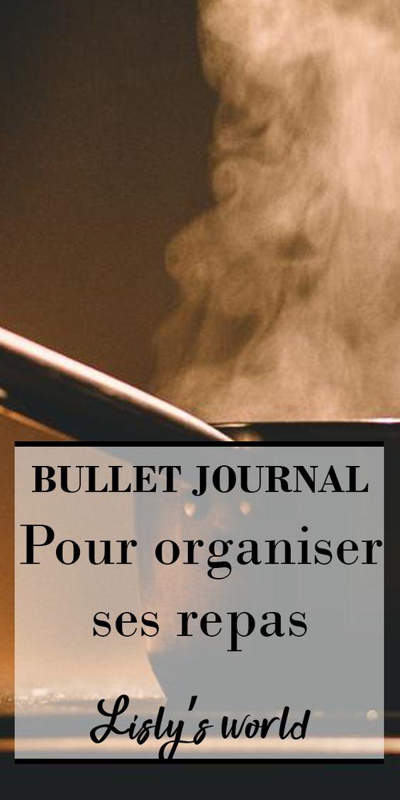 Repas et Bullet Journal : ma recette