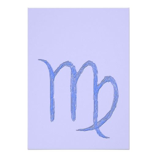 Virgo Zodiac Astrological Sign Blue Personalized Invitation