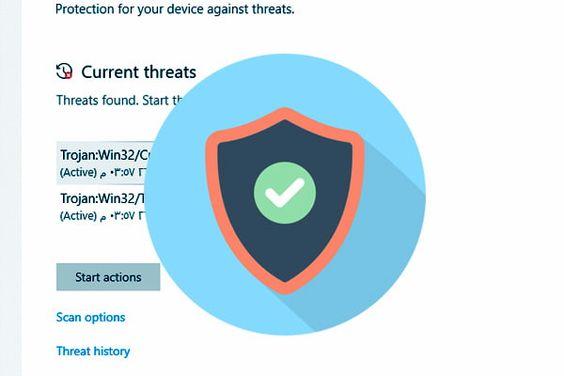 ازالة الفيروسات بدون برامج وفحص الكمبيوتر بالكامل من الفيروسات Tech Logos Georgia Tech Logo School Logos