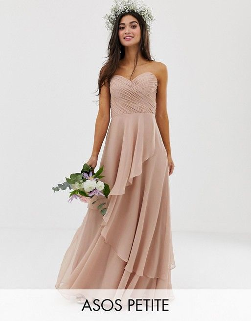 Where To Find Affordable Bridesmaid Dresses All Around 100 Or Less Find The Perfect D Asos Bridesmaid Dress Bandeau Maxi Dress Affordable Bridesmaid Dresses