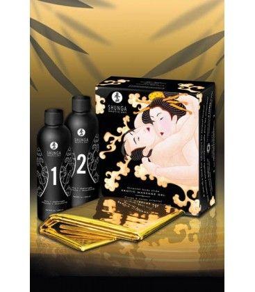 KIT DE ÓLEOS DE MASSAGEM SHUNGA MELÃO  Inspirada na arte dos preliminares orientais, a colecção Shunga oferece uma diversidade de produtos sensuais e afrodisíacos, destinados a criar uma atmosfera de cumplicidade no casal.  €29,95 #Massagem #Relax @eroticpt