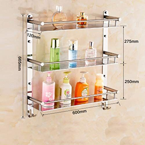 Bathroom Shelves Wall Mounted Stainless Steel Towel Rack Bathroom