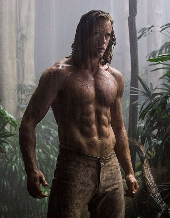 The first official stills, featuring Alexander Skarsgård as the main man Tarzan, were released on Wednesday and they're heavenly.