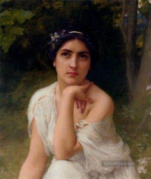 Charles Amable Lenoir Gemälde - Pensive realistische Porträts Mädchen Charles Amable Lenoir