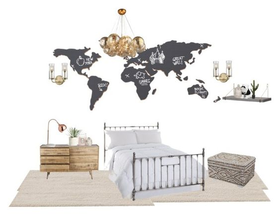 World View 1 by kelittaa on Polyvore featuring polyvore, interior, interiors, interior design, home, home decor, interior decorating, ESPRIT, Luckies, CB2, Allstate Floral and Voluspa