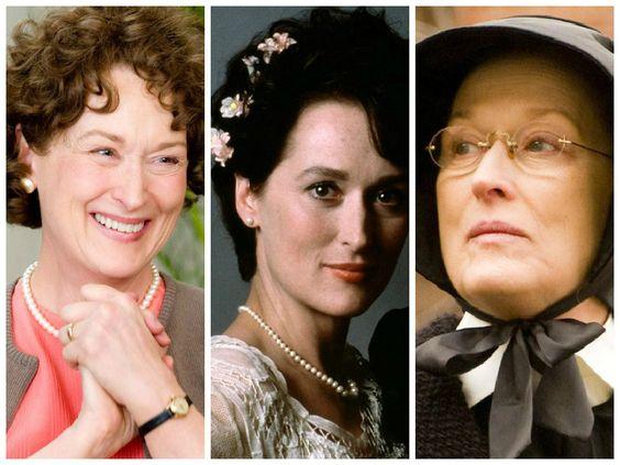 A diva do cinema norte-americano Meryl Streep já deu vida a mais de 50 personagens ao longo de mais de 30 anos de carreira.