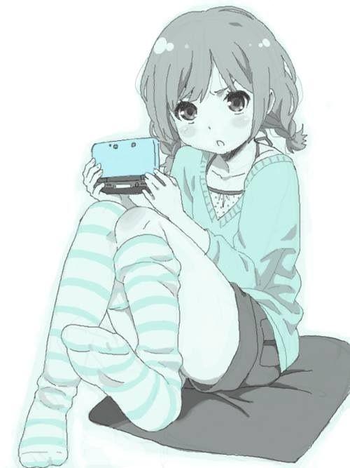 Cute gamer anime girl   Games   Pinterest   Anime, Girls