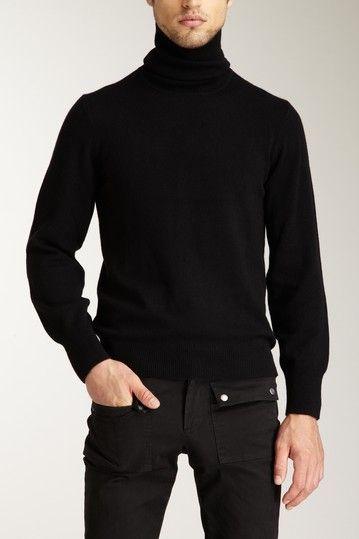 Mr. Turk Turtleneck Black Cashmere Sweater