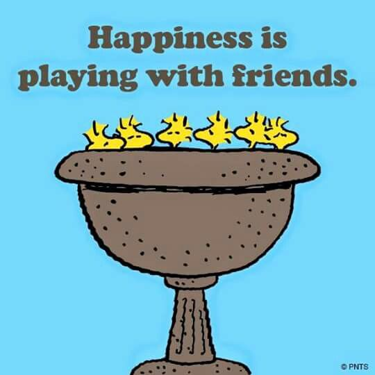 Happiness is playing with friends