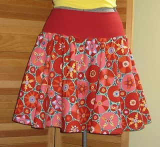 Circle skirt with wide elastic band