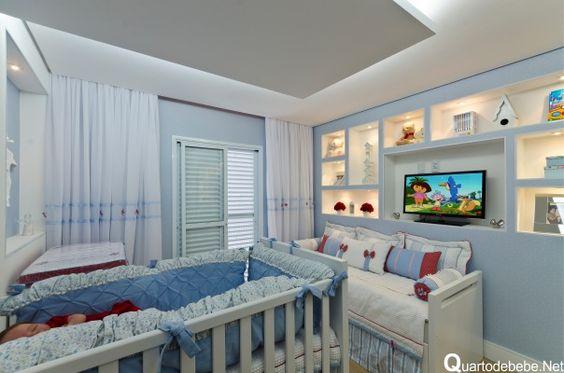 quarto bebe azul nicho embutido
