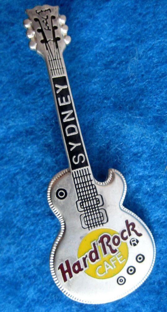 Ebay Sponsored Sydney Australia Silver Gibson Les Paul Metal Guitar Series Hard Rock Cafe Pin Hard Rock Cafe Hard Rock Gibson Les Paul