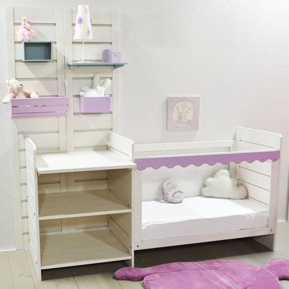 Composition lit bébé, table à langer et rangements http://www.machambramoi.com/lit-bebe/4942-composition-lit-bebe-table-a-langer-et-rangements.html