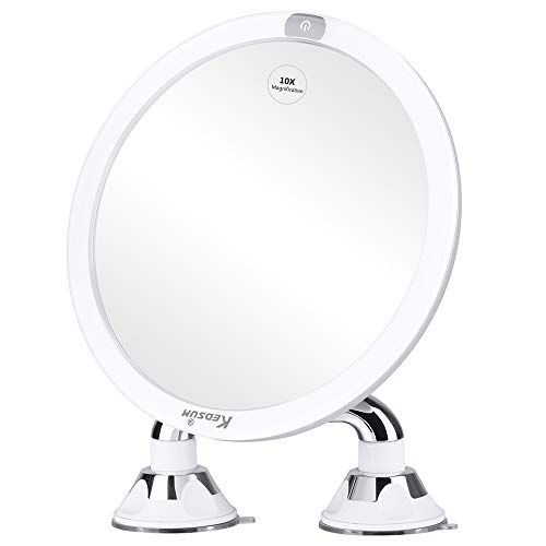 Kedsum 9 Rechargeable 10x Magnifying, Suction Magnifying Mirror For Bathroom