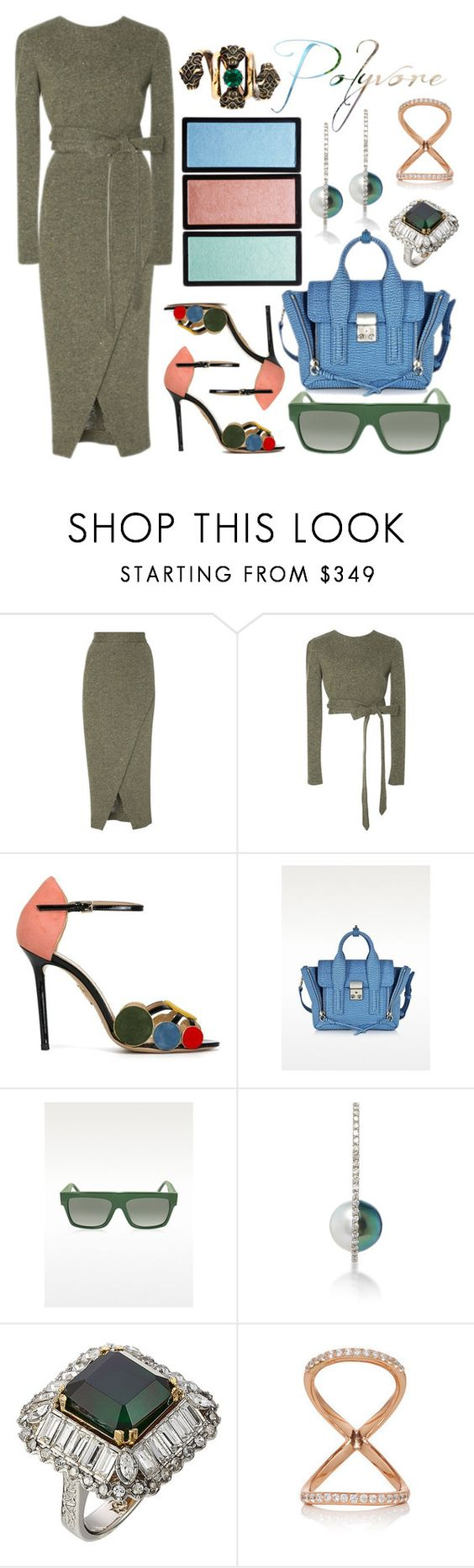 """""""Contemporary"""" by cherieaustin ❤ liked on Polyvore featuring Charlotte Olympia, 3.1 Phillip Lim, CÉLINE, Alexander McQueen, Gucci and contemporary"""