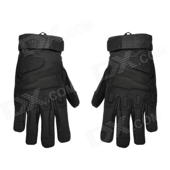 Outdoor Mountaineering Full-Finger Windproof Gloves for Men - Black (L) Price: $16.70