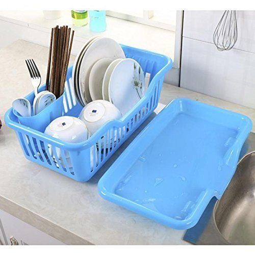 Luxafare Plastic 3 In 1 Kitchen Sink Dish Drainer Drying Rack