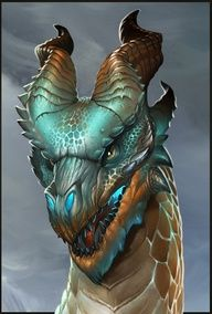Dragon Head detail by ~firatsolhan on deviantART
