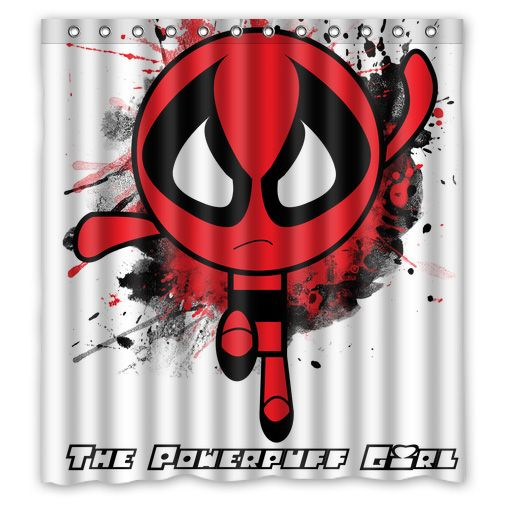 Deadpool Powerpuff Girl Shower Curtain With Images Girls