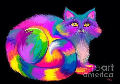 Nick Gustafson - Fluffy Rainbow Cat