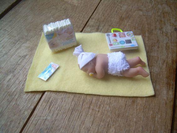 Miniature baby handmade polymer clay baby by MinniesMiniatures