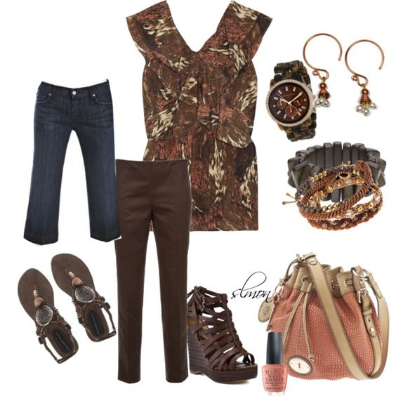 Peachy Brown, created by slmon on Polyvore