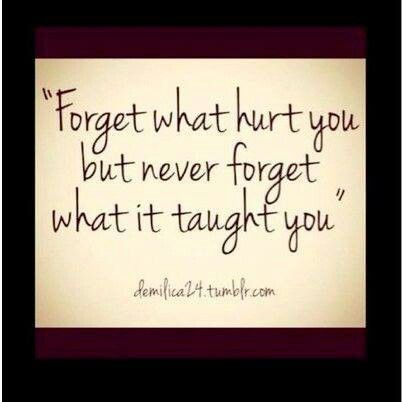 Never forget what you've learned from narcissistic abuse