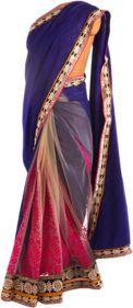Elegant royal blue saree