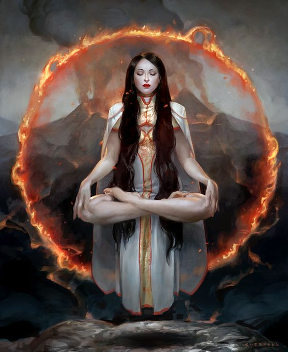 beautifulbizarremag:  Heart of Fire by sheppard arts ©2014 Hex/Cryptozoic Entertainment Digital illustration for Hex: Shards of Fate
