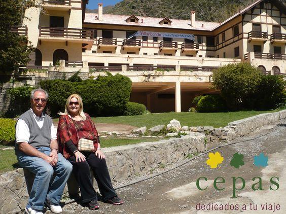 Hotel Villavicencio clasica postal de Mendoza.