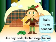 "Storybook Creator : Illustrate the power of words with this interactive game that allows young readers to change key words in classic stories like, ""Jack and the Beanstalk."""