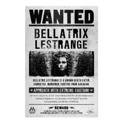 Sirius Black Wanted Poster Gif Bellatrix lestrange wanted poster harry ...