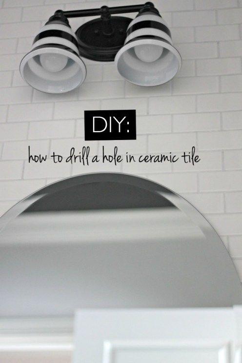 How To Drill A Hole In Ceramic Tile Ceramic Tiles Ceramic Wall Tiles Ceramics