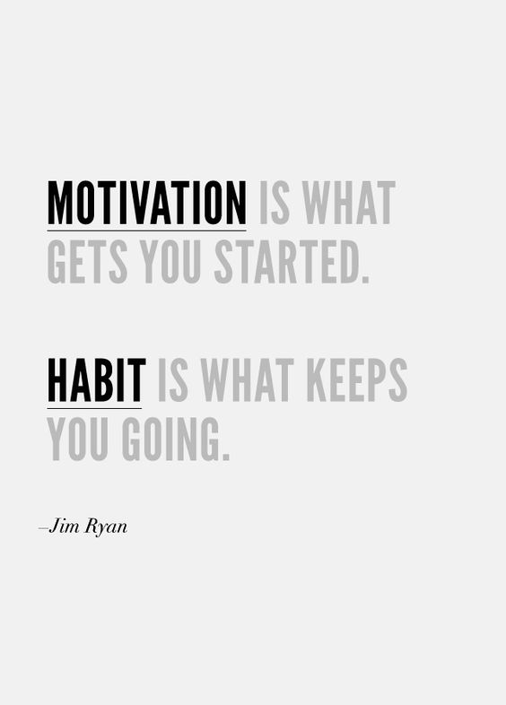 Motivation is what gets you started. Habit is what keeps you going. #quote #motivation #fitness: