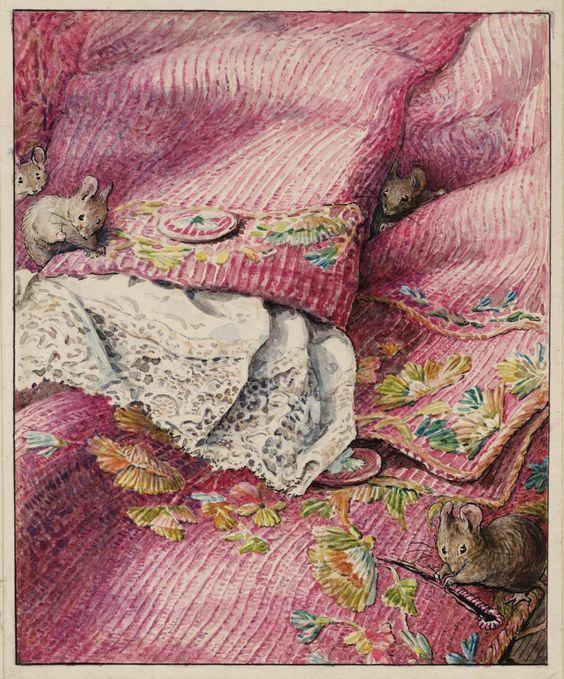 Helen Beatrix Potter 'The Mice Stitching Button-Holes', c.1902