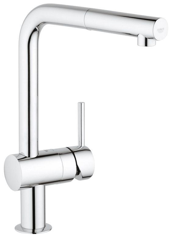 Grohe Minta Küchenarmatur, Schwenkbereich 360°, herausziehbarer - grohe concetto küchenarmatur