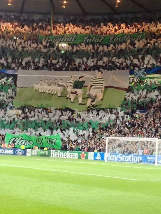 Una cartolina da Glasgow; Celtic Football Club vs Ajax #ultras