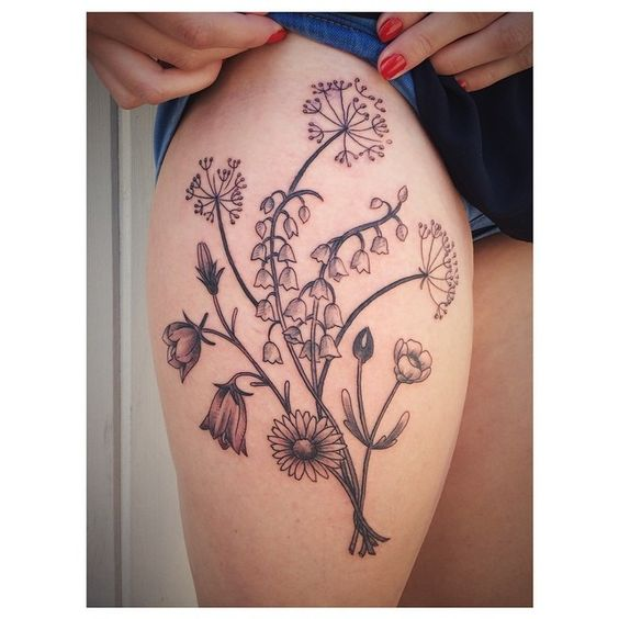 More flowers tattoo by james tran full circle tattoo for Vegan tattoo shops near me