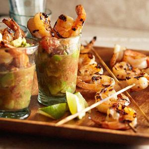 Chile-Lime Grilled Tiger Shrimp with Avocado Cocktail Sauce | Recipe ...