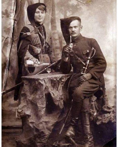 Кавалеристы армии УНР.