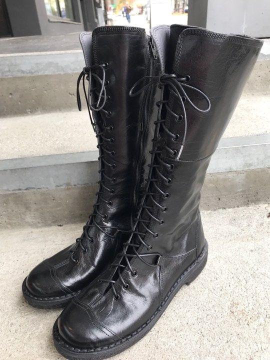 Bubetti lange snørestøvletter sorte | Skostua din