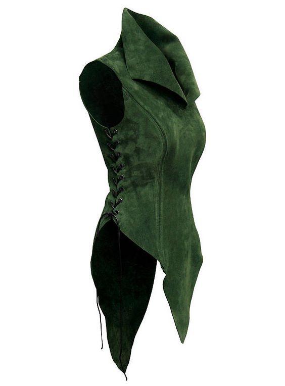 Waldelfe Ledergewand grün